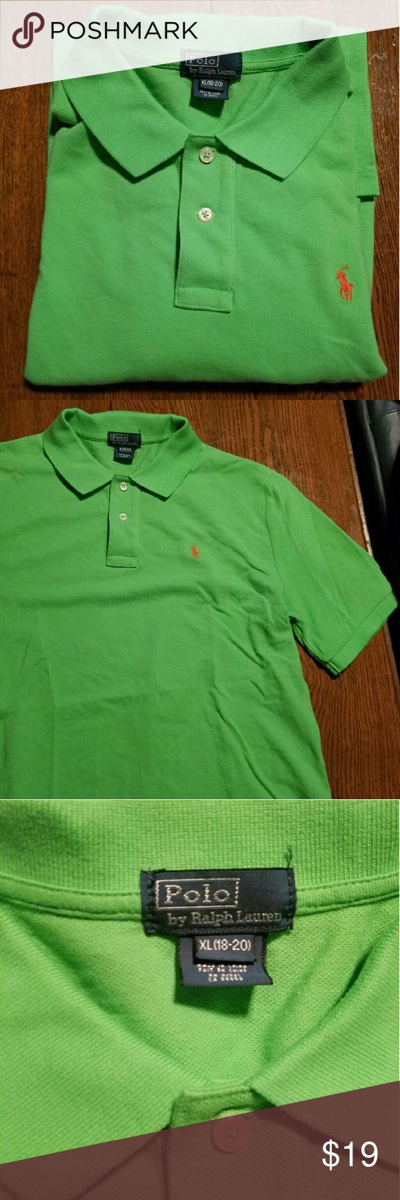 NWOT lime green Polo shirt Mens medium or kids XL! Polo by Ralph Lauren Shirts Polos