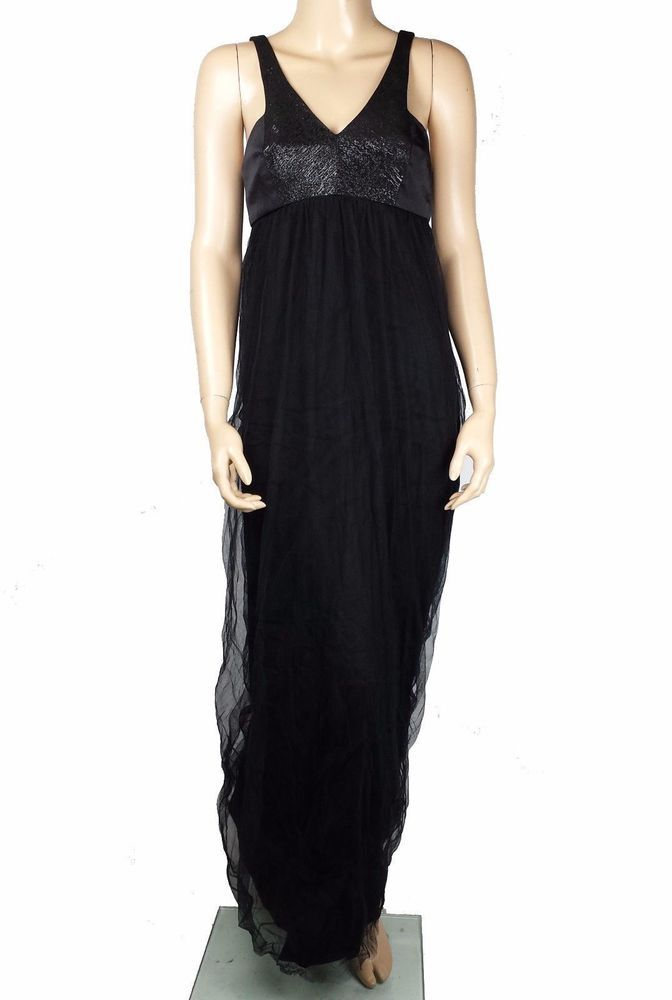 New Bcbgeneration Bcbg Black Dress Maxi Ball Gown Tulle Womens Size