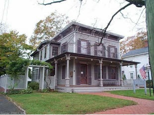One of my favorite homes is for sale South Main St  New Milford. We call this the Bat House because of all the bat cut outs and window.