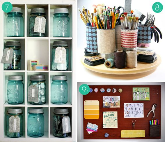 Eye candy 12 brilliant craft room organization and for Diy organization crafts