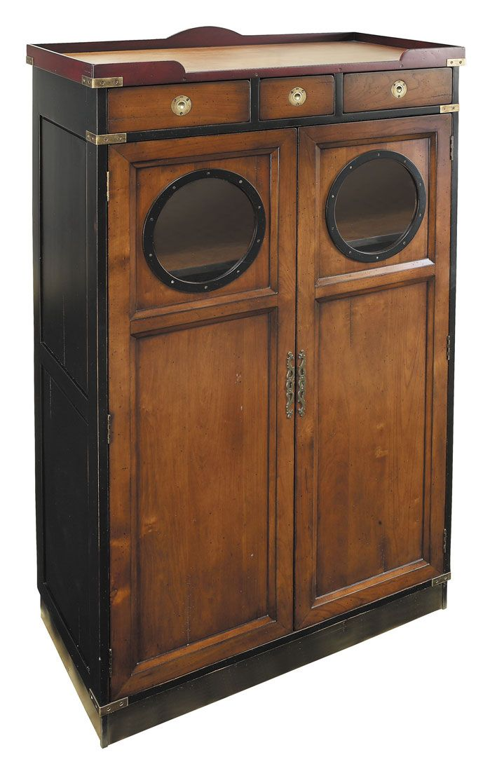 Nautical Maritime Furniture, Porthole Cabinet - for coats by back door?
