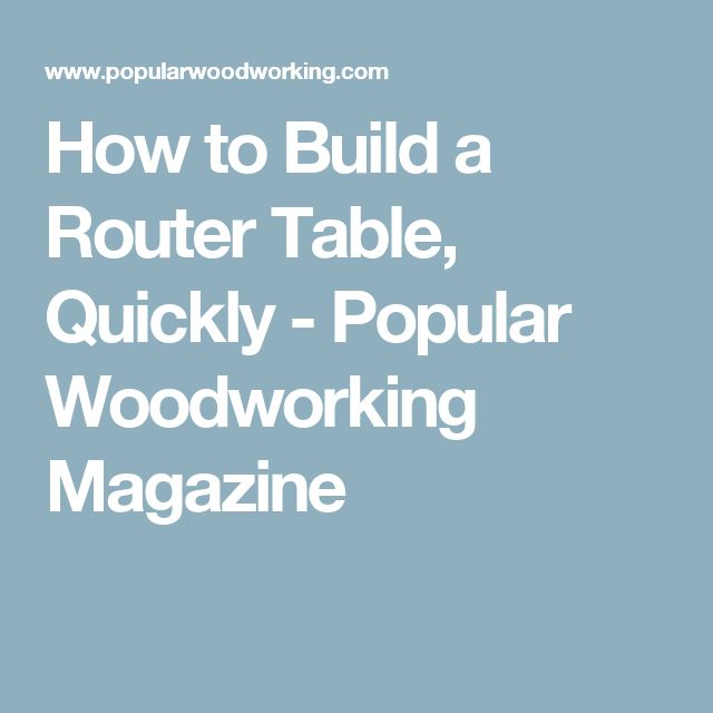 Best 25 build a router table ideas on pinterest woodworking how to build a router table quickly keyboard keysfo Gallery