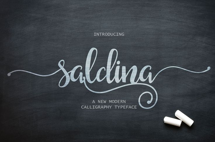 Saldina is a free font that combined brush lettering with traditional hand writing.