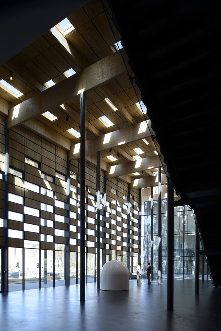 """""""Besançon Art Center and Cité de la Musique"""" (2013) interior view of wall-window