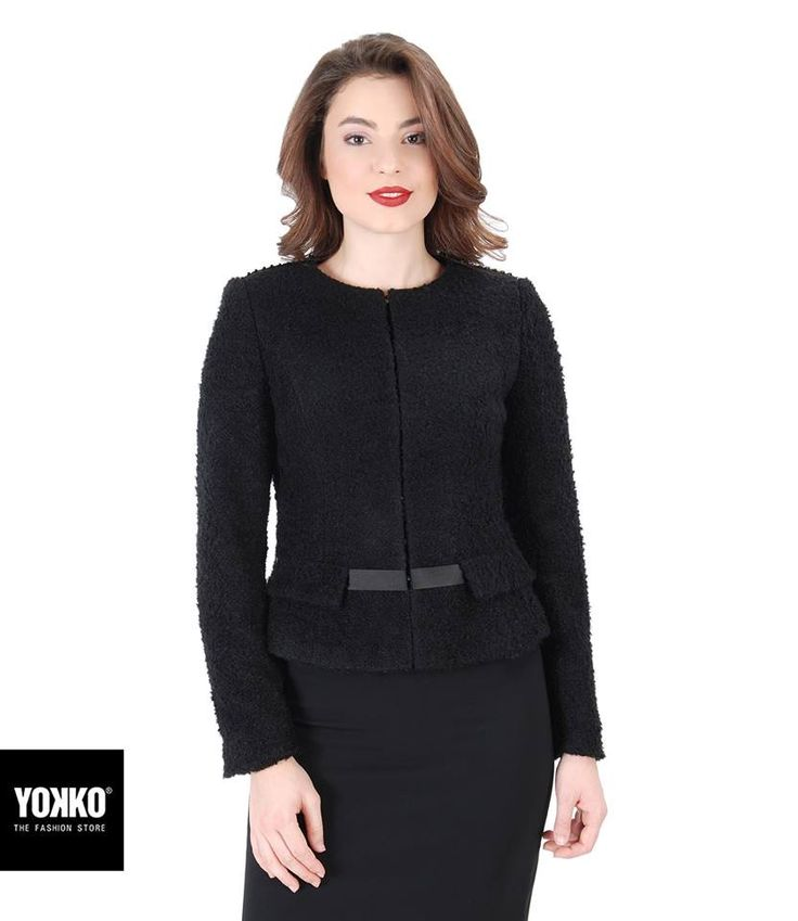 Elegant, warm & soft! wear it everyday of the week, GABRIELLE Jacket #jacket #wool #black #day #evening #work #elegant