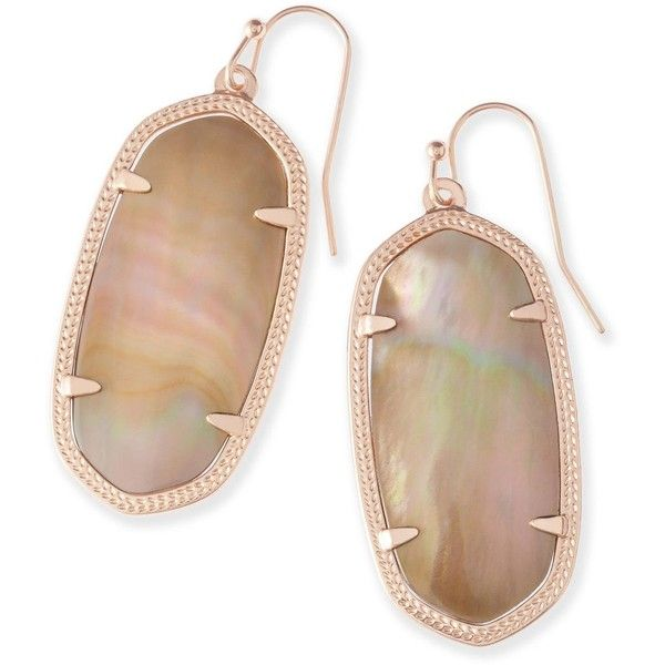 Kendra Scott Elle Rose Gold Earrings in Brown Pearl (3,525 INR) ❤ liked on Polyvore featuring jewelry, earrings, white pearl earrings, kendra scott earrings, pearl jewellery, pearl earrings jewellery and stud earrings