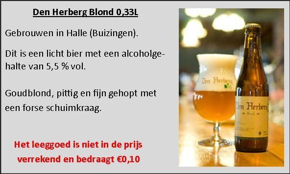 Den Herberg Blond 0,33L