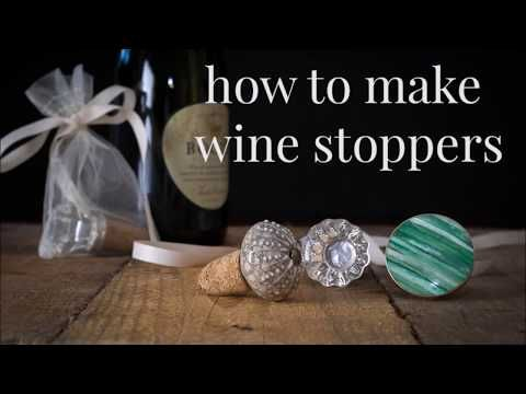 DIY Wine Stoppers From Used Corks and Drawer Pulls   Hometalk