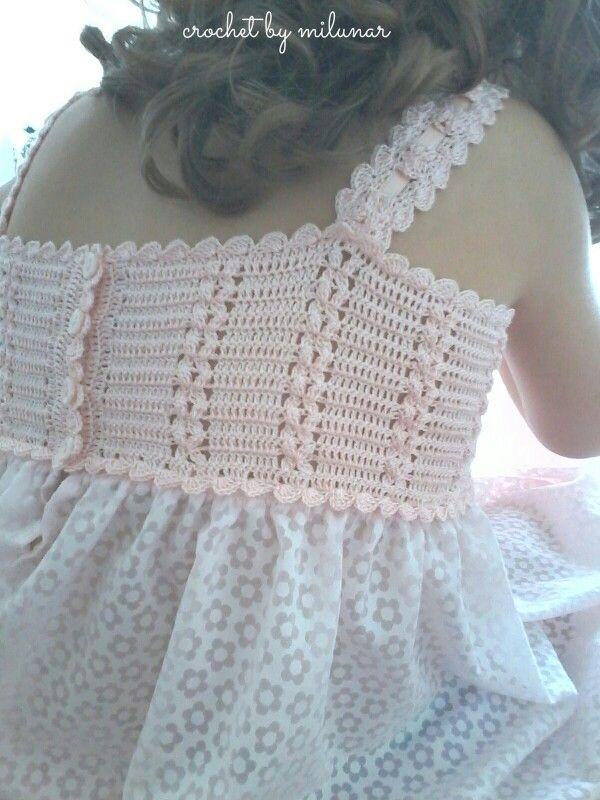 Crochet by milunar: camisón para niña.