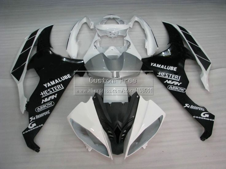 427.80$  Buy here - http://aissl.worlditems.win/all/product.php?id=32796459497 - Injection mold plastic fairing kit For YAMAHA YZF R6 2008 -2013 2014 white black fairings set YZFR6 08 09 10 11-14 JL66