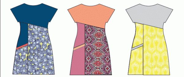 Tutorial Asymmetric A-line Dress – Free Sewing Pattern – Design Your Own