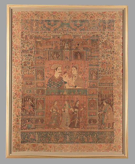 Kalamkari Hanging with Figures in an Architectural Setting | Islamic | The Met
