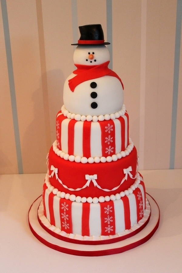 Snowman Christmas Cake for Party
