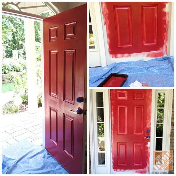 Front Porch Decorating Ideas Behr Marquee Awning Red A Front Door After One Two And Three