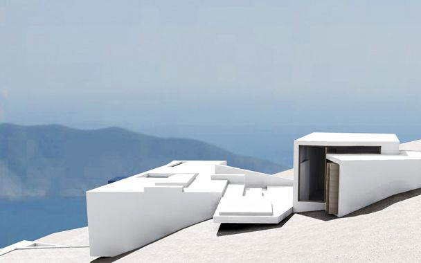 Metris - Eisenstein's Story-Board Summerhouse or the house as a model for cinematic space - Anafi, Cyclades (A House for… - International Architectural Competition)  1