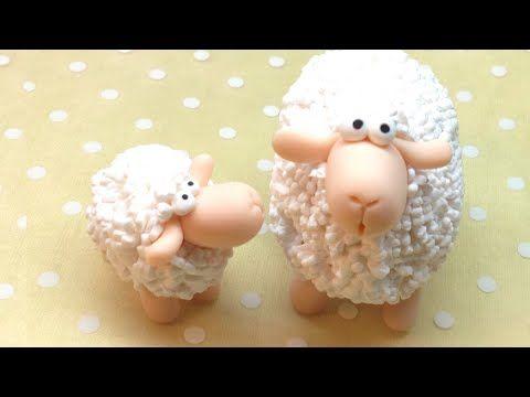 How to make a fluffy sheep easily. Como fazer uma ovelha fofinha de forma simples. http://instagram.com/sandrartesyt http://sandrartes.blogs.sapo.pt/ https:/...