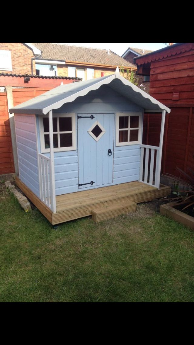 18 best images about pophuis on pinterest play houses for Wooden wendy house ideas