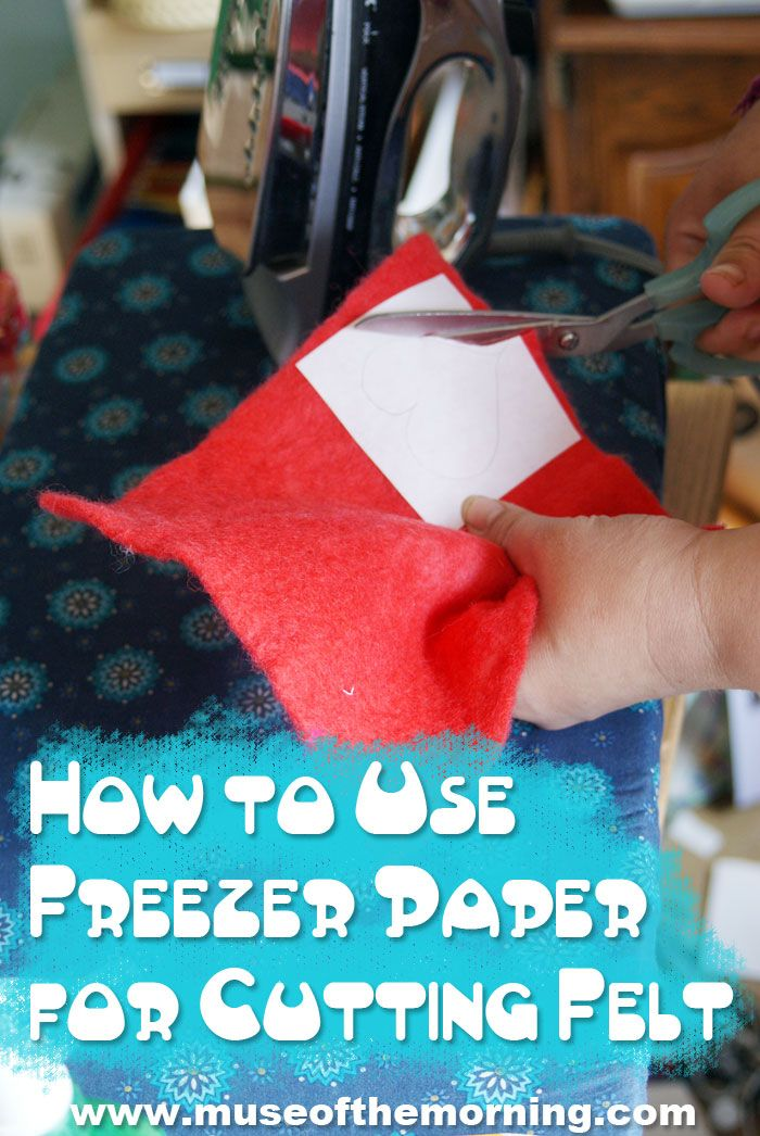 Tutorial: How to Use Freezer Paper to Cut Wool Felt | Muse of the Morning Crafty Kits, Wool Felt & PDF Sewing Patterns