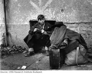 Young Hungarian refugee 1956