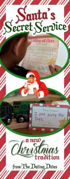 The sweetest Christmas tradition EVER!  Enlist your kids in Santa's Secret Service and get them focused on GIVING instead of GETTING this year.