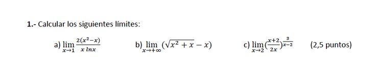 Ejercicio 1B 2014-2015 Julio. Propuesto en examen pau de Canarias. Matemática. Continuidad, derivabilidad y representación de funciones. Límites.