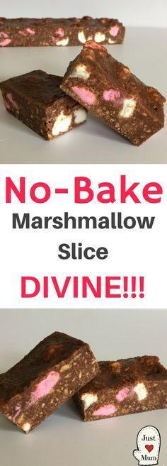 Just A Mum's Easy No Bake Marshmallow Slice
