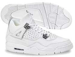 Air Jordan 4 White/White Chrome: Jordans 4, Air Jordans, Jordan 4, Chrome 4 Jordans