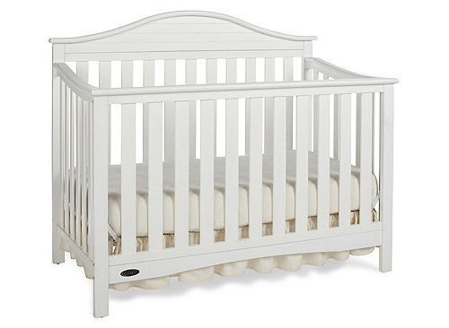 Boasting transitional style with a touch of nautical flare, the Graco® Amanda 4-in-1 convertible crib creates a cozy sleep environment that you and your baby will both love. Featuring a uniquely designed headboard, the stunning crib will provide the utmost elegance to your baby's room. It will be a staple in your child's room for years to come, as it easily changes from a crib to a toddler bed (no guard rail), a daybed and a full-size headboard with footboard (bed frame and mattress s...