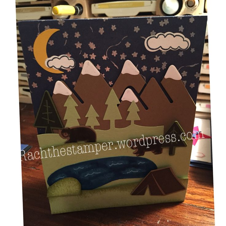 Always an Adventure stamp set. Stampin Up. Outdoor Adventure framelits. See the video on You Tube at Rachthestamper!