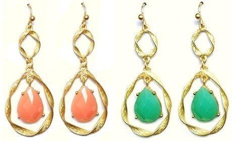 Desiree Goldtone Earrings (Coral) Maggie T New York