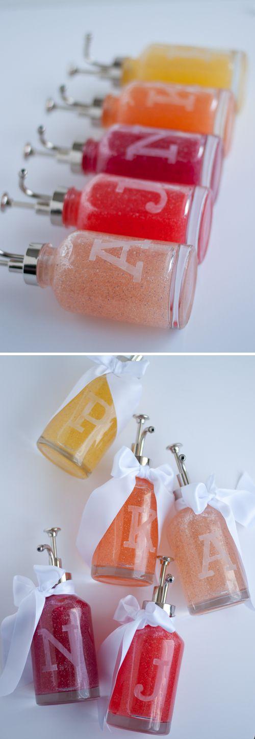 DIY: Monogram Soap Bottles
