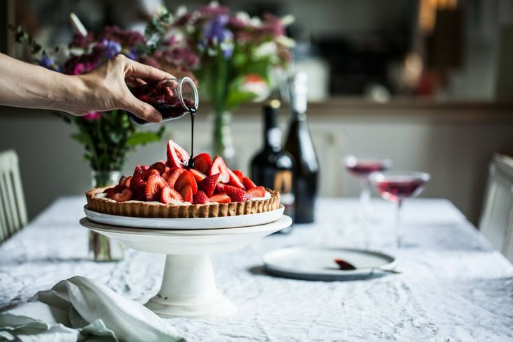 Jahodové tartaletky s glazé z portského vína | KITCHENETTE