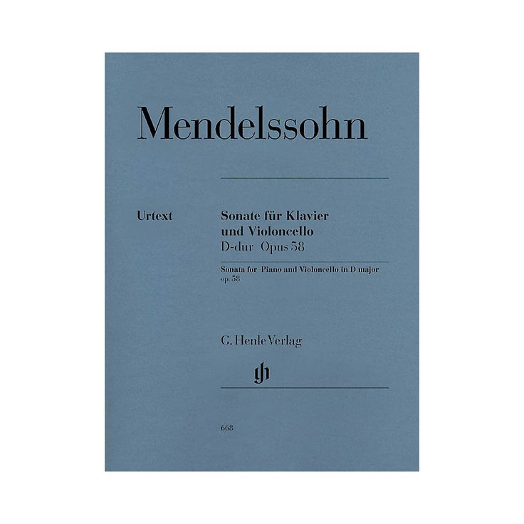 G. Henle Verlag Sonata for Piano and Violoncello D Major Op. 58 (Cello and Piano) Henle Music Folios Series Softcover
