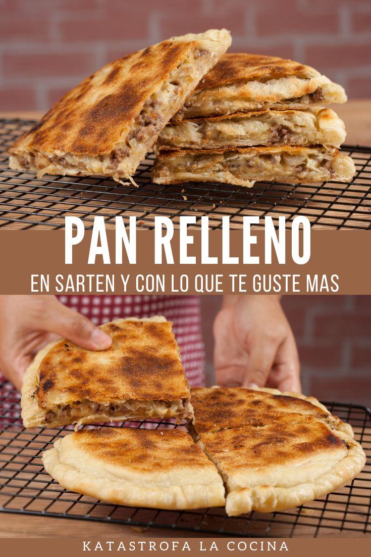 Cuando tengo unos minutos y quiero algo delicioso hago esta receta sin horno, una empanada o pizza rellena en sarten sin levadura. Una receta muy rápida y deliciosa. Lo mejor esque puedes rellenar con lo que prefieras de cualquier forma quedara deliciosa, así que si tienes harina prepara este pan sin levadura, una receta sin horno que te encantara. #KatastrofaLaCocina #PanSinHorno #PanRelleno #Recetas #Receta #Comida #Pan Pan Relleno, Empanada, Ethnic Recipes, Shape, Bread Without Yeast, Bread Recipes, Breads, Homemade, Meals