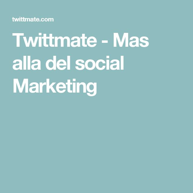 Twittmate - Mas alla del social Marketing