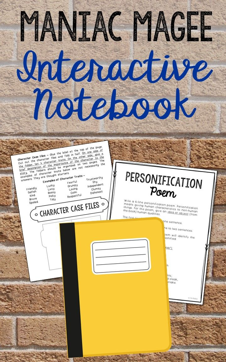 best maniac magee ideas novel definition it  maniac magee interactive notebook novel unit study activities vocabulary