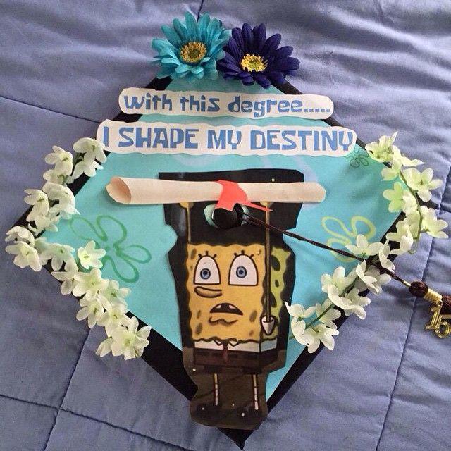 Funny Caps Lock Quote: SpongeBob-themed Graduation Caps: 2015 Edition