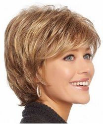 Fluffy Wavy Elegant Inclined Bang Synthetic Short Mixed Color Capless Women's Wig (AS THE PICTURE) | Sammydress.com