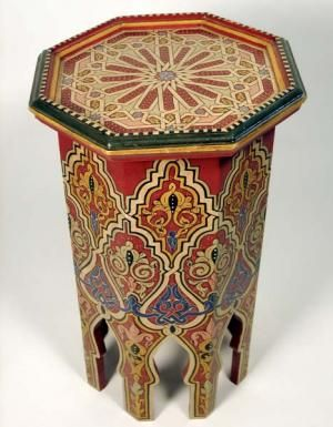 This Hand Painted Moroccan Table Would Add Life To A Beige Livingroom!