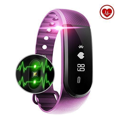 Smart Watch Bluetooth Activity Tracker Heart Rate Monitor Waterproof iOS Android #SmartWatchActivityTracker