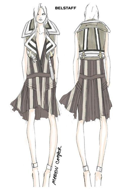 Belstaff Fashion Illustrations