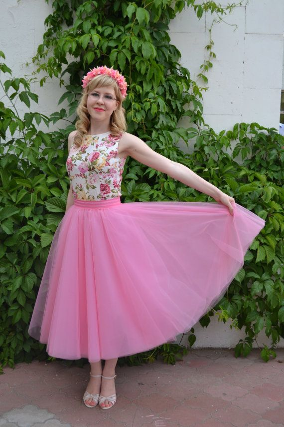 Pink tulle skirt Coral Bridesmaid Skirt Tutu Baby by StarJasmine33-$53.65+-Assorted Colors