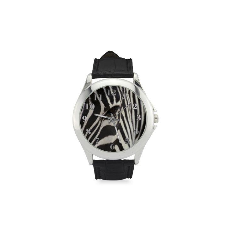 Zebra Women's Classic Leather Strap Watch. FREE Shipping. #artsadd #watches #zebra