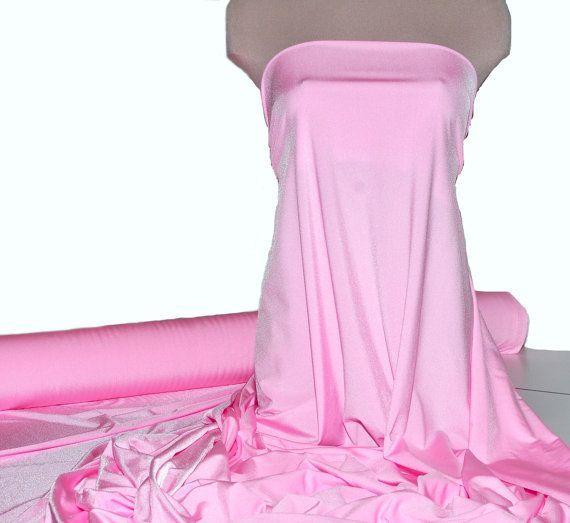 Milliskin Spandex Lycra Fabric Bright Baby Pink  . 4 way stretch... dance, pageant, gymnastics, costume, formal wear.. by the yard