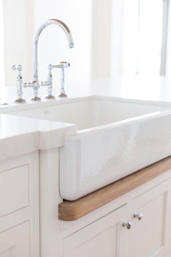 Wood Detail Under Farmhouse Sink Kitchens Pinterest
