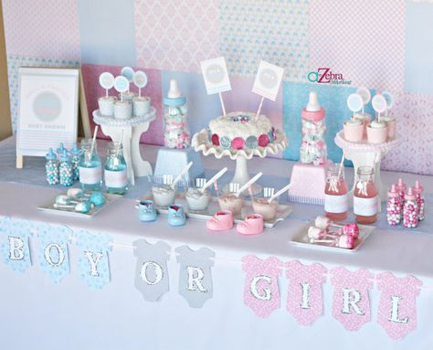 gender reveal baby shower via #babyshowerideas #genderreveal #party #supplies Baby shower ideas for boy or girl