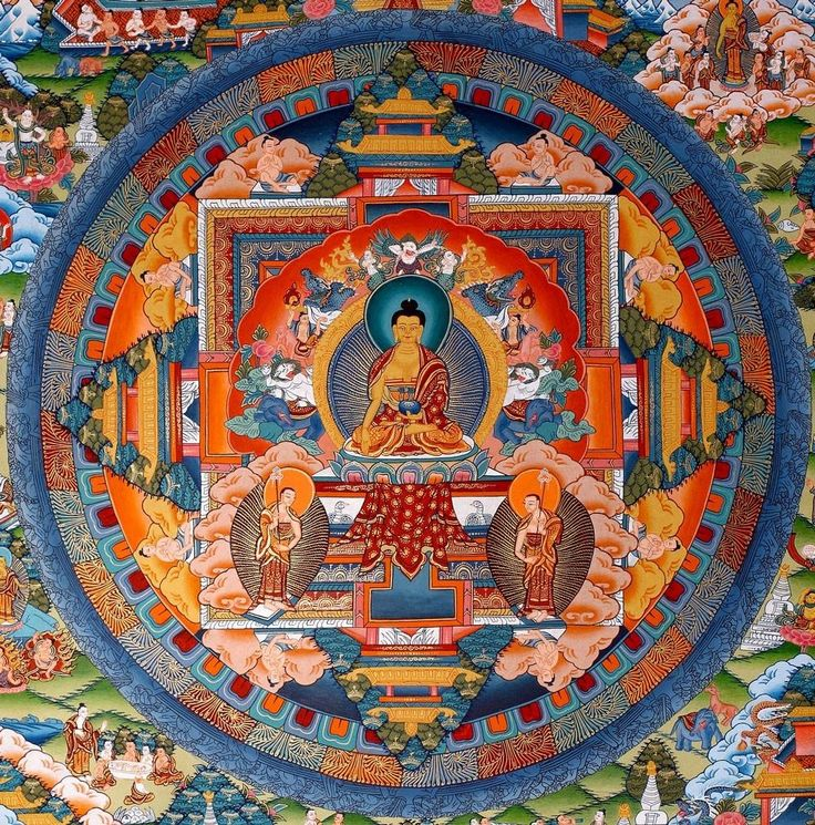 Buddha Painting Mandala #thanka TraditionalArtofNepal.com