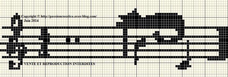 Bonjour, Voici une deuxième grille pour aujourd'hui que j'imagine bien en marque page. Bonne création