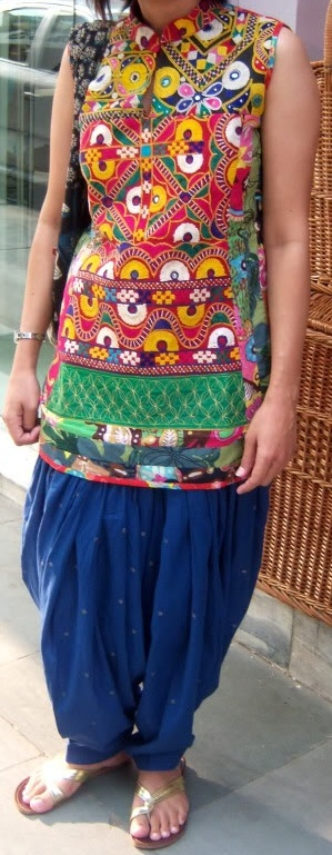 printed kurta with contrast patiala pant-instant style for street chick