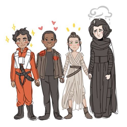 Poe finn rey and kylo